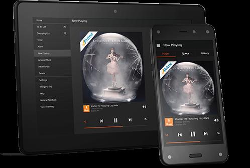 Abbildung der Amazon Echo App