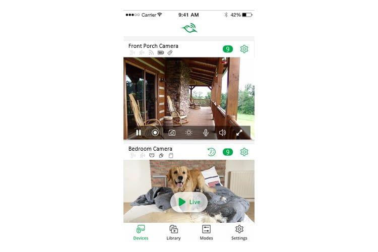 Per App können die Aufnahmen aller Arlo Kameras online eingesehen werden