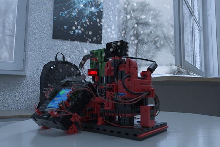 Das ROBOTICS TXT Smart Home schlägt beispielsweise Alarm, wenn die Raumtemperatur drastisch fällt