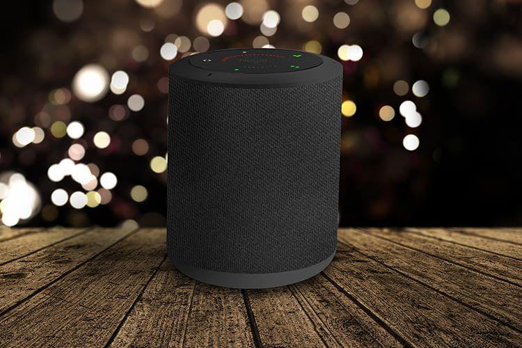 Der intelligente Bluetooth-Laustprecher Milo von Hogar Controls streamt über Google Assistant Musik