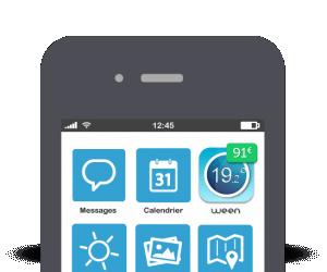 Abbildung der Ween Thermostat App auf einem iPhone