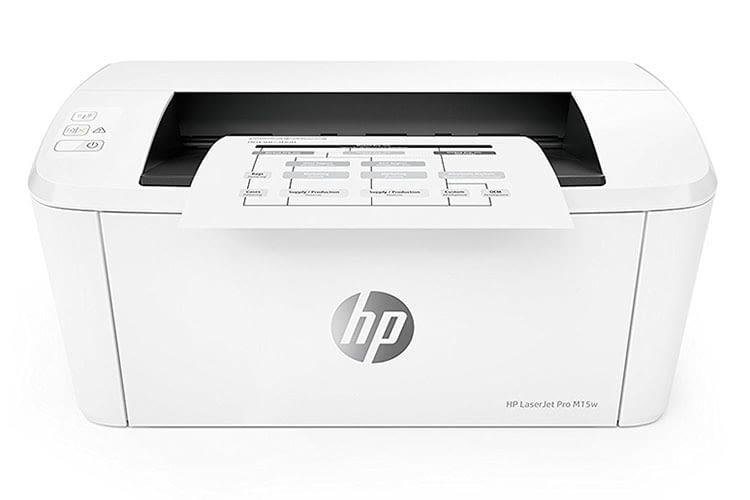 HP LaserJet Pro M15w schafft bis zu 19 Seiten in der Minute