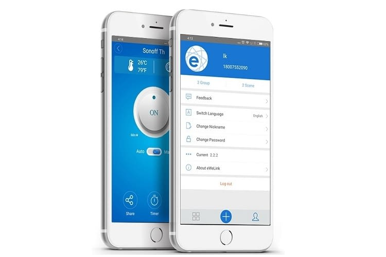 Die eWeLink-App für Android und iOS ist gut strukturiert und einfach zu bedienen