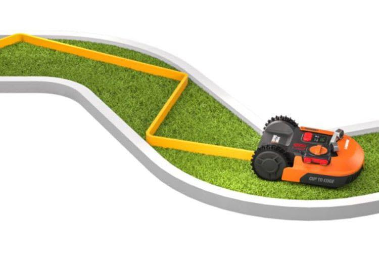 Die Worx Landroid Mähroboter suchen dank AIA Agile-Navigation effiziente Wege und Mähbahnen