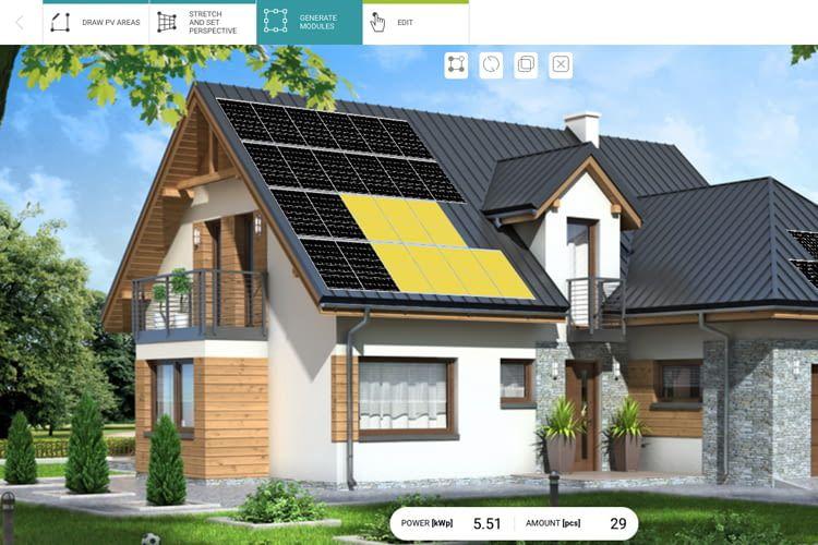 Anhand von Skizzen, Bildern oder Google Maps plant die Software die PV-Projekte
