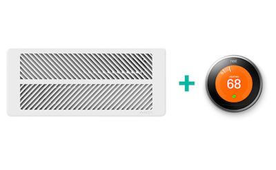 KEEN Smart Vent App zur Steuerung des Nest Thermostat