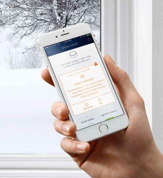 Die Ondus-App dient als Steuereinheit für GROHE Sense und Sense Guard