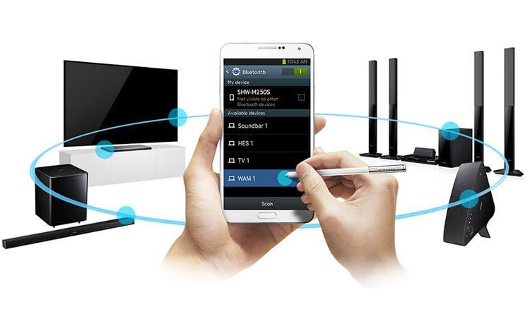 In das Samsung-System lassen sich auch Lautsprecher anderer Hersteller einbinden