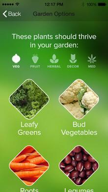 Edyn Smart Garden System - Abbildung der Smartphone App