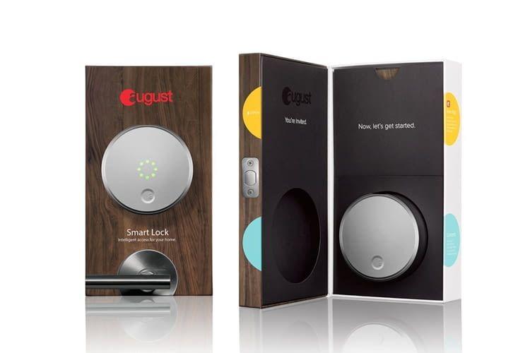 Das HomeKit kompatible August Smart Lock gibt es alternativ auch in extravagantem Rot