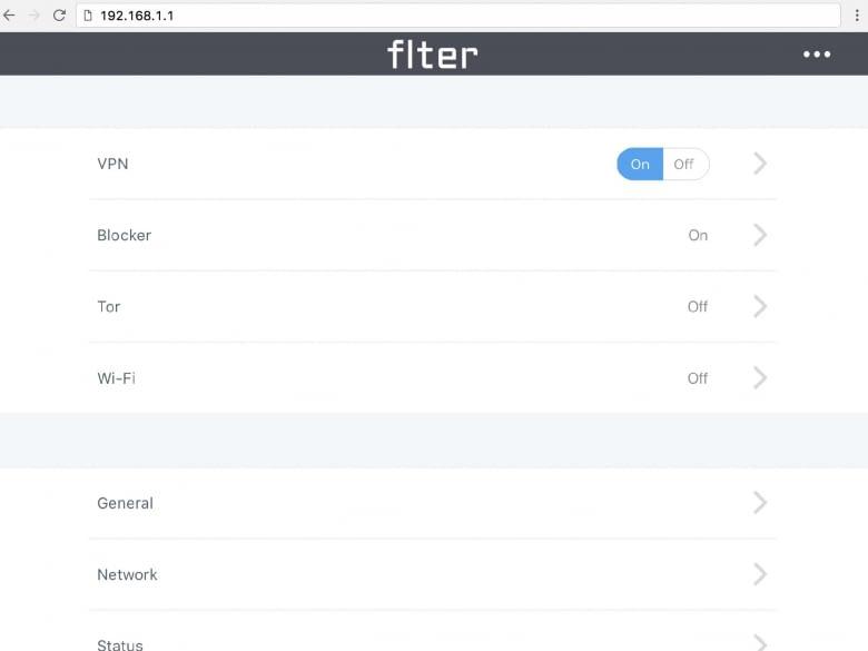 VPN, AdBlocker, Tor-Modus: flter filtert das Internet