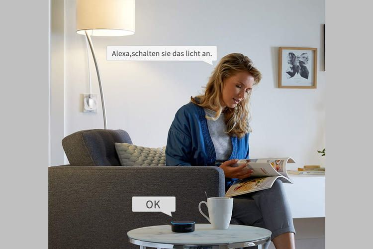 """Dank Alexa-Anbindung kann die Steckdose auf Wunsch auch """"zuhören"""""""