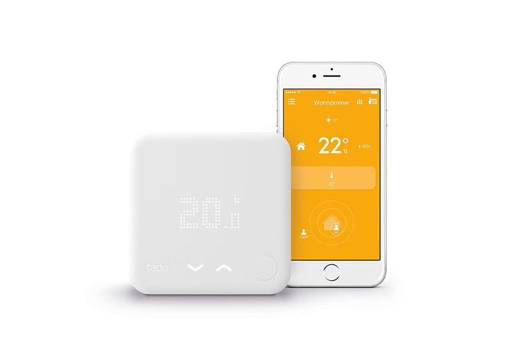 Laut Herstellerangaben lassen sich mit tado° Thermostaten bis zu 31 Prozent Heizkosten sparen