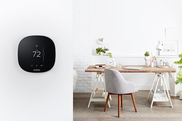 WLAN-Thermostat ecobee4 präsentiert sich ohne Ecken und Kanten