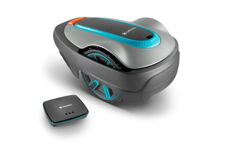 Der GARDENA smart SILENO city stellt die Verbindung zum Smartphone via einem Gateway her