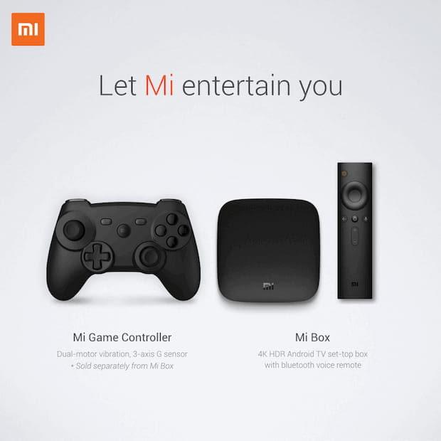 Abbildung der Mi Set Top Box mit Mi Game Controller