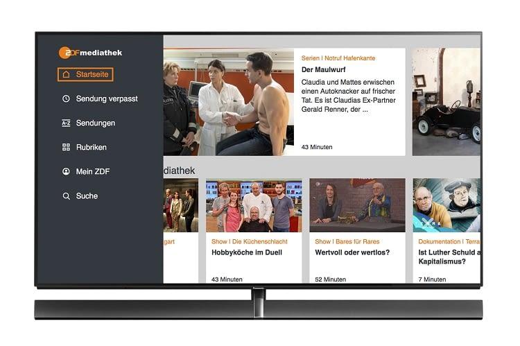 Die ZDFmediathek App ist nun für Panasonic Smart TVs verfügbar