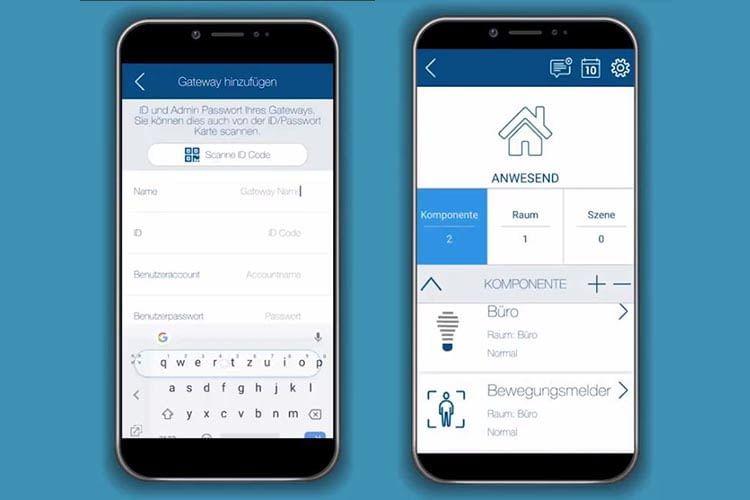 Bei der Installation des ABUS Smart Home Systems müssen die Komponenten nur noch in der App ausgewählt werden