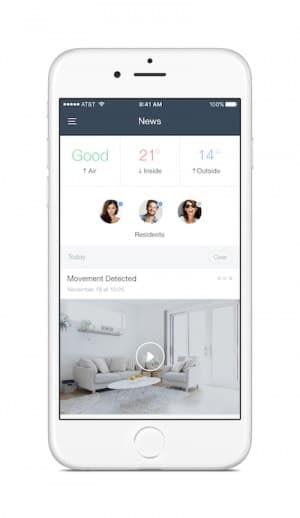 naon App für das Smart Living / Smart Home System mit integrierten Sensoren