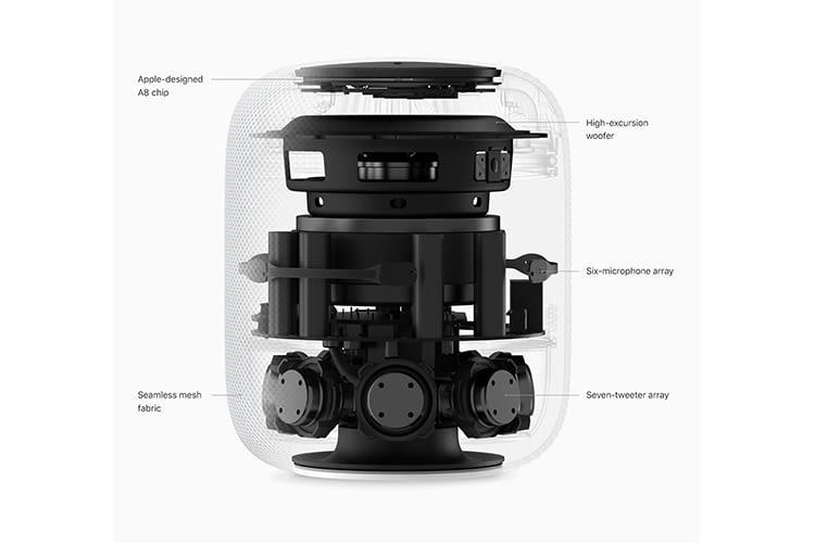 Apples Ingenieure haben bei der Entwicklung des HomePod viel Wert auf exzellenten 360-Grad-Sound gelegt