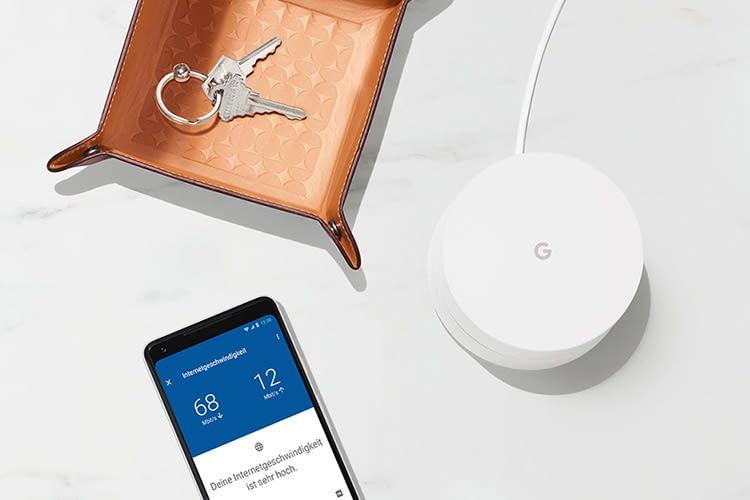 Mit Google Wifi lässt sich zuhause ein Mesh-Netzwerk einrichten