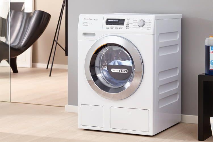 Der Miele WTH 730 WPM Waschtrockner erreicht je nach Wasch- bzw. Trockenmodus Lautstärken von 46 bis 72 dB