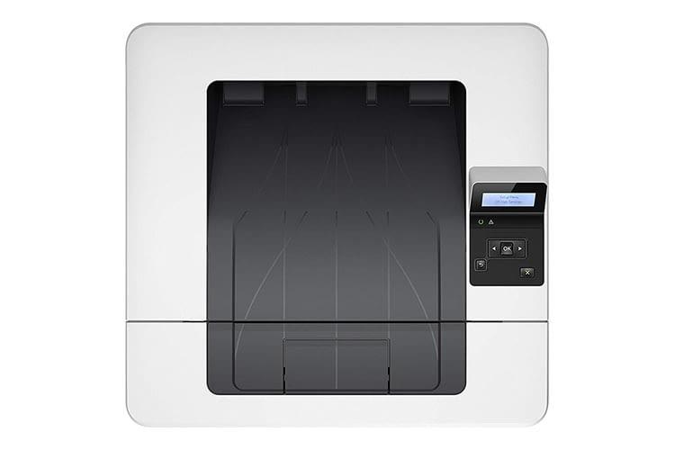 HP LaserJet Pro M402dne: Das 2-Zeilen-Display gibt Auskunft über den Druckerstatus