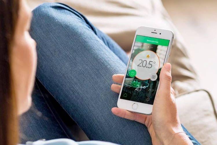 Über die Wiser Heat-App wird die gesamte Heizungssteuerung reguliert