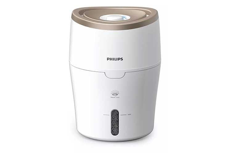 Der Luftbefeuchter Philips HU4811/10 verfügt über einen Wassertank mit 2 Liter Fassungsvermögen
