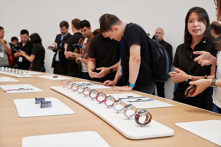 Die Apple Watch Series 3 konnte direkt nach der Keynote getestet werden