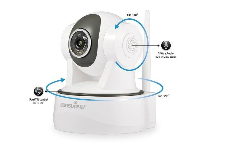 Die Wansview Überwachungskamera kann auch als Haustiercam eingesetzt werden