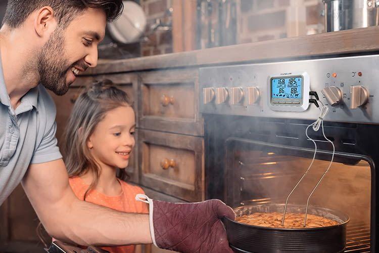Der TopElek 2-Sonden-Thermometer eignet sich als vielseitige Küchenhilfe
