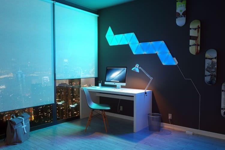 Aurora Panele setzen zum Beispiel an Wänden oder in Fluren farbige Akzente