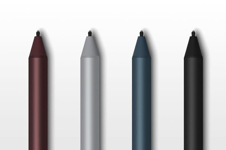Auch der Surface Pen ist in den 4 Farbvarianten verfügbar