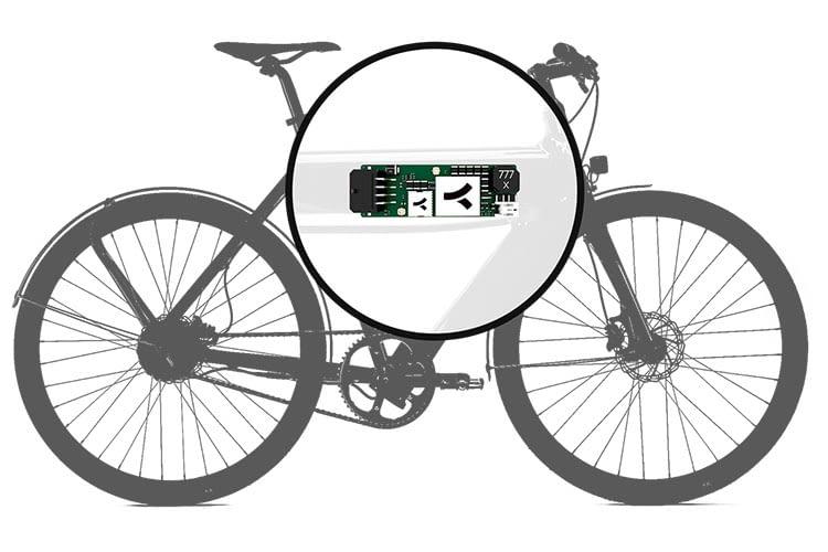 Die COMODULE Tracking-Technik können Hersteller im Rahmen des E-Bikes integrieren