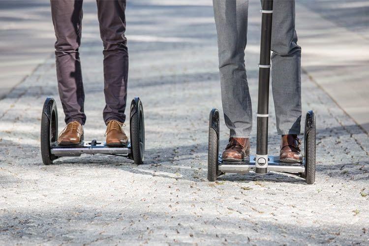 Anfänger können sich mit einer Haltstange zusätzliche Sicherheit verschaffen