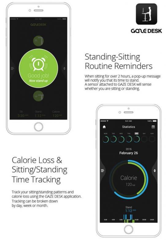 GAZE DESK Smartphone App Beschreibung