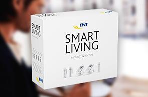 Abbildung des EWE smart living Paket zur intelligenten Haussteuerung