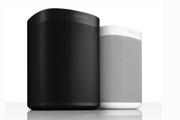 Sonos One Lautsprecher sind in schwarzem oder weißem Design erhältlich