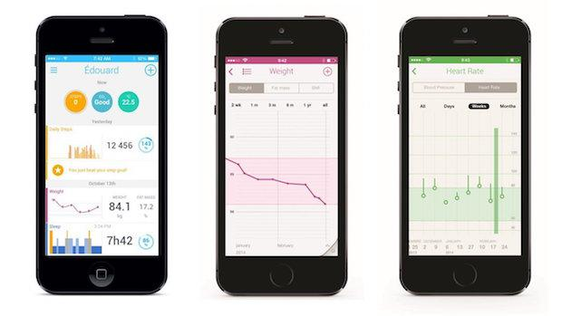 Abbildung der Withings WS-50 Smart Body Analyzer App