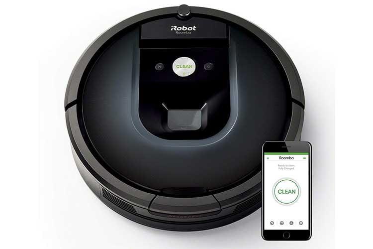 Die App von iRobot Roomba ist übersichtlich. Der Roboter kann auch ohne Smartphone App bedient werden