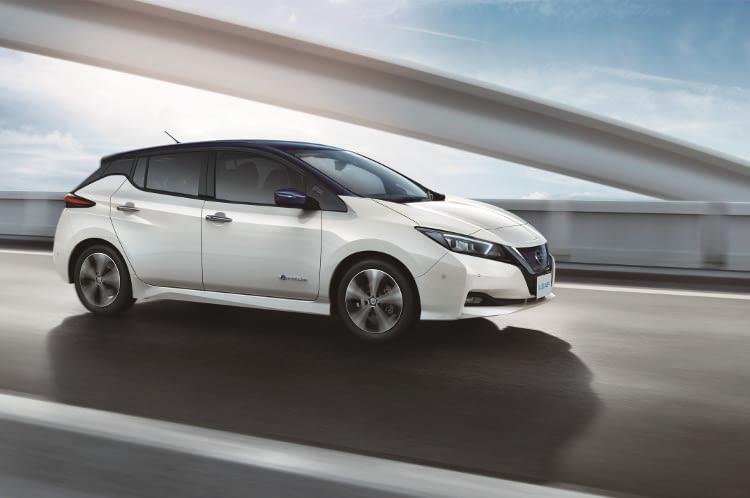 Der Nissan Leaf 2018 bietet mehr Leistung und sorgt für spritzige Fahrwerte.