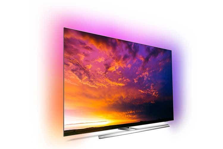 Der OLED-TV Philips OLED854 bietet dreiseitiges Ambilight mit Weckfunktion und simuliertem Sonnenaufgang