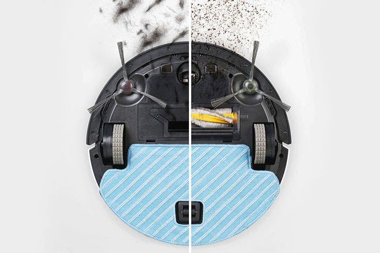 Anwender können beim ECOVAC Deebot Ozmo 610 entscheiden, ob sie mit oder ohne Bürste reinigen wollen