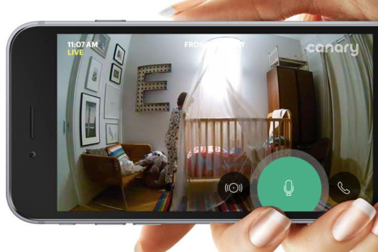 Das Sicherheitssystem Canary View streamt das Videobild in HD-Qualität aufs Smartphone