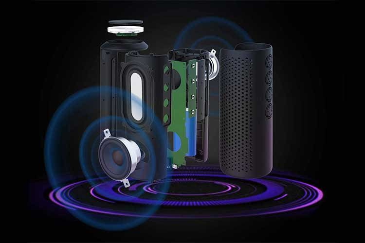 Der Bluetooth-Lautsprecher Zamkol ZK606 bietet 360 Grad Sound mit zwei DUAL-Hochtreibern und einem passiven Bass-Radiator