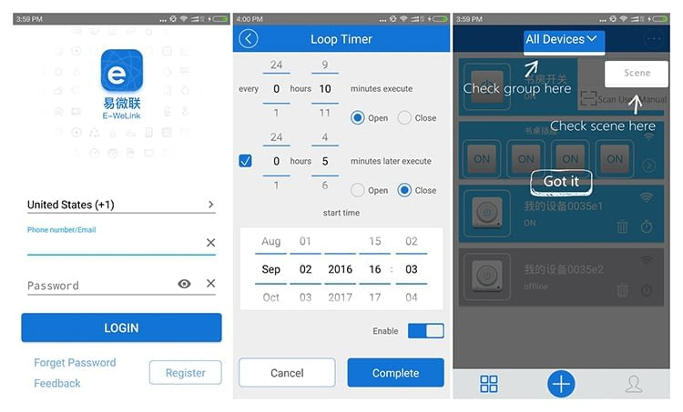 Mit der eWeLink-App lassen sich alle mit Sonoff verbundenen Geräte verwalten und steuern