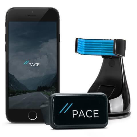 Abbildung PACE Link One & PACE Mount - einfach zum Smart Car