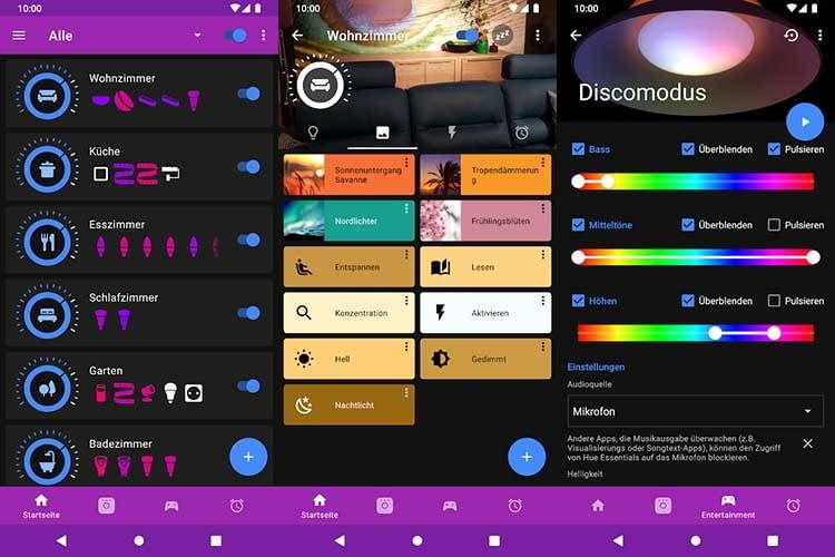 Bessere Übersicht, Lichtszenen und Disco-Effekte - die Hue Essential App hat viel zu bieten