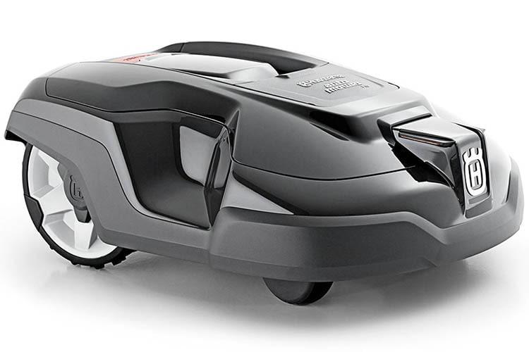 Der Mähroboter HUSQVARNA AUTOMOWER 315 läßt sich mit dem optionalen AUTOMOWER Connect-Modul per Smartphone steuern